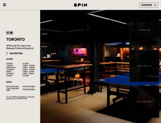 toronto.wearespin.com screenshot
