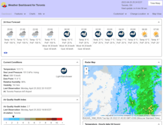 toronto.weatherstats.ca screenshot