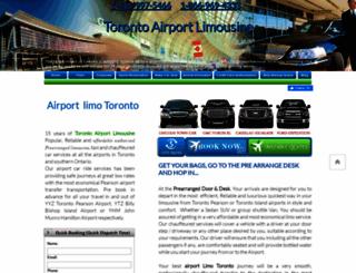 torontoairportslimousine.com screenshot