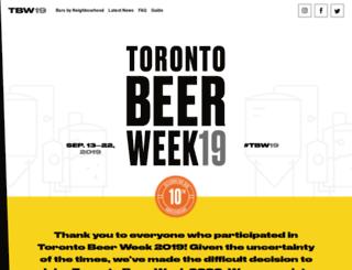torontobeerweek.com screenshot