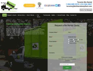 torontobinrental.org screenshot