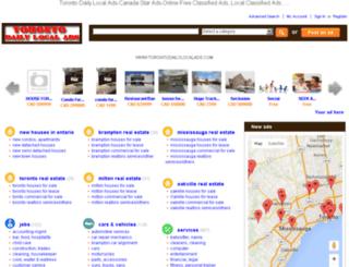 torontodailylocalads.com screenshot