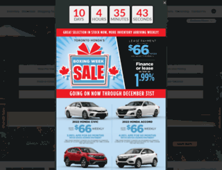 torontohonda.com screenshot