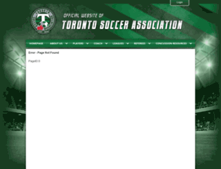 torontosoccerassociation.ca screenshot