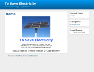 tosaveelectricity.com screenshot