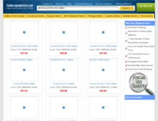 toshiba-laptopbattery.com screenshot