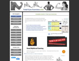 total-gym-exercises.com screenshot