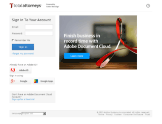 totalattorneys.echosign.com screenshot