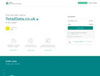 totaldata.co.uk screenshot