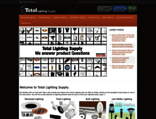 totallightingsupply.com screenshot