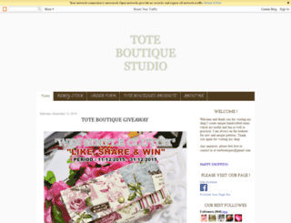 tote-boutique.blogspot.com screenshot