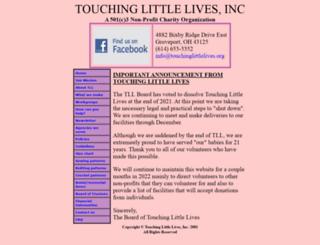 touchinglittlelives.org screenshot