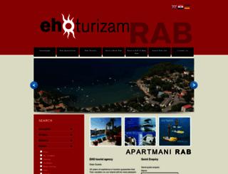 tourism.eho.hr screenshot