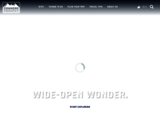 tourismcanmore.com screenshot