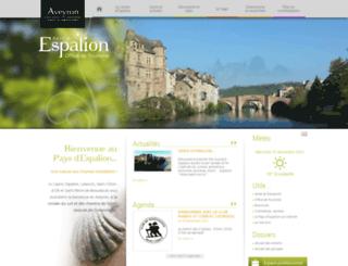 tourisme-espalion.fr screenshot