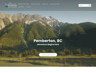 tourismpembertonbc.com screenshot