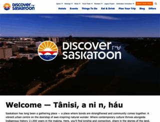tourismsaskatoon.com screenshot