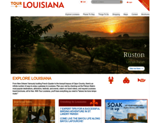 tourlouisiana.com screenshot