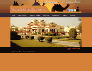 toursinrajasthan.com screenshot