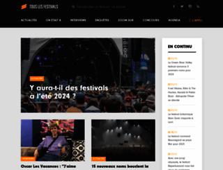touslesfestivals.com screenshot