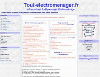 tout-electromenager.fr screenshot