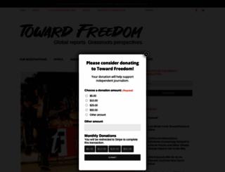 towardfreedom.org screenshot