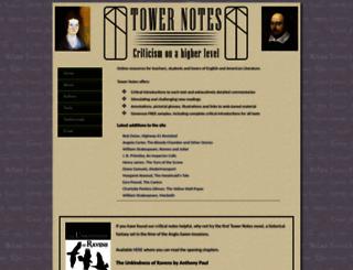 towernotes.co.uk screenshot