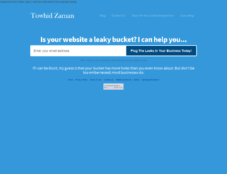 towhidzaman.com screenshot