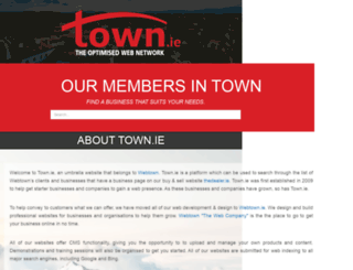 town.ie screenshot