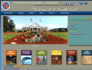 town.richlands.va.us screenshot
