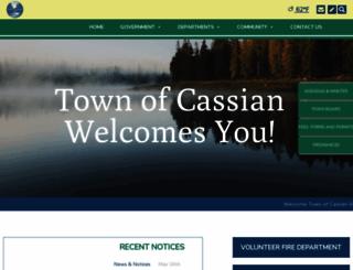 townofcassian.org screenshot