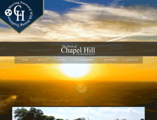 townofchapelhilltn.com screenshot