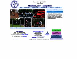 townofmadbury.com screenshot