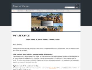 townofvance.weebly.com screenshot