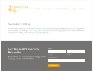 toxipedia.org screenshot