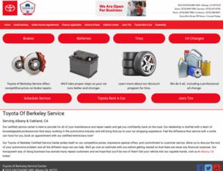 toyotaofberkeleyservicecenter.com screenshot