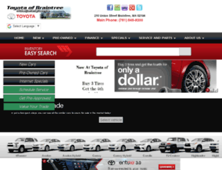 toyotaofbraintree.com screenshot