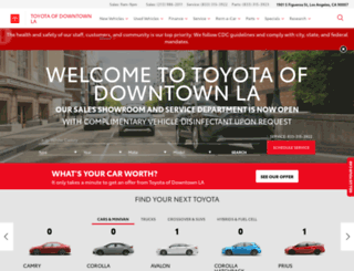 toyotaofdowntownla.com screenshot