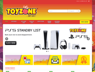 toyzone.co.za screenshot