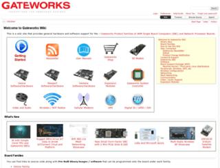 trac.gateworks.com screenshot