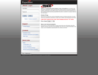 trace.expeditors.com screenshot