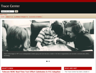 trace.wisc.edu screenshot