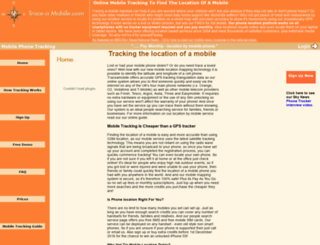 traceamobile.co.uk screenshot