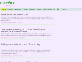 tracefox.com screenshot