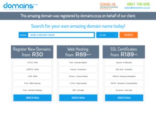 trackers.co.za screenshot
