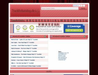 tracklistkatalog.de screenshot