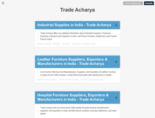 tradeacharya.tumblr.com screenshot
