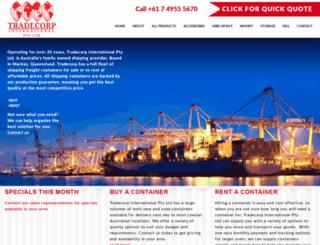 tradecorpinternational.com.au screenshot