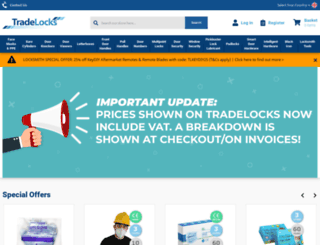 tradelocks.co.uk screenshot