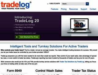 tradelogsoftware.com screenshot